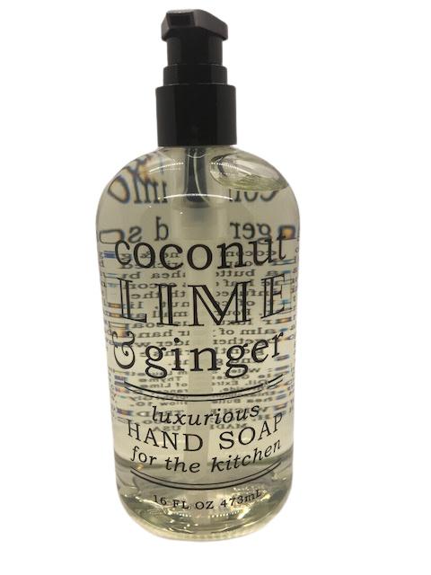 Liquid soap - Coconut lime ginger 16oz