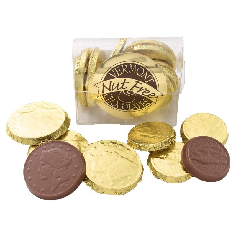 NUT FREE chocolate coins