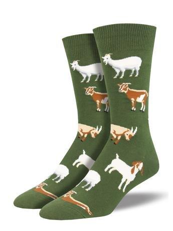 Socks Men's Goats on green