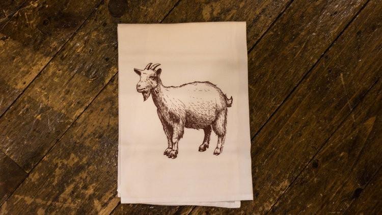 Greaaaat Goat dish towel