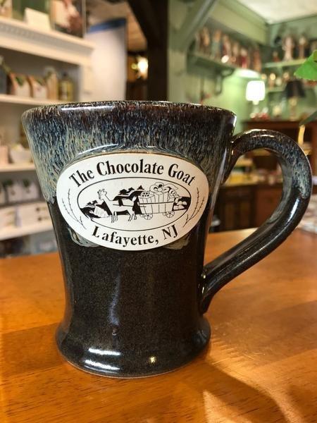 Goat Mug - 14oz stonewear with Chocolate Goat logo