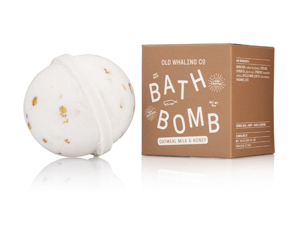 Bath Bomb Oatmeal Milk & Honey 8 oz