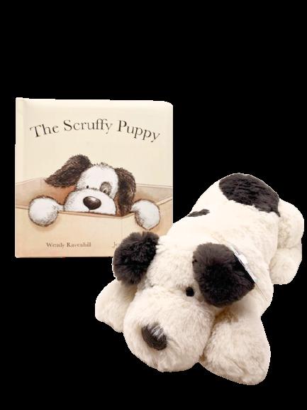 Scruffy Puppy Book & Plush