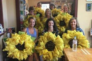 Burlap Sunflower Workshop
