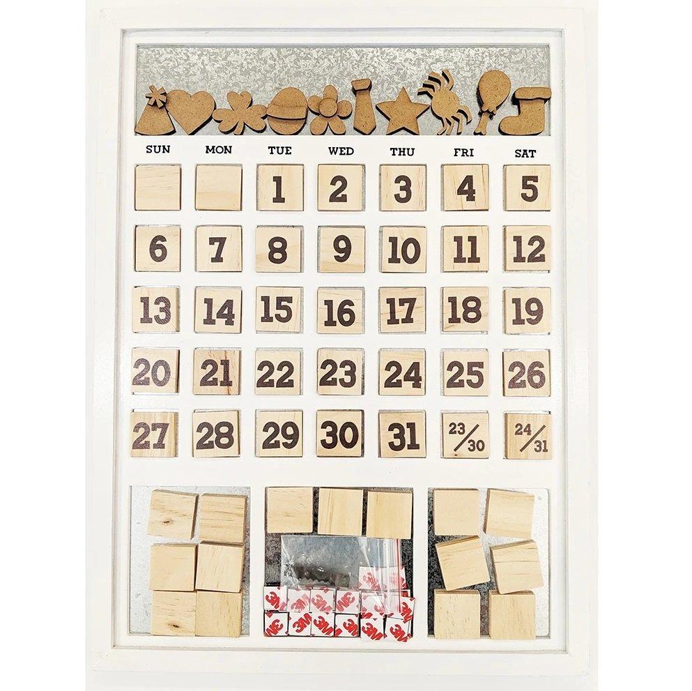 Magnetic Calendar - Frame White