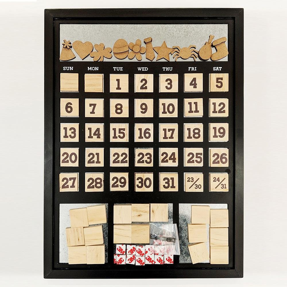 Magnetic Calendar - Frame Black