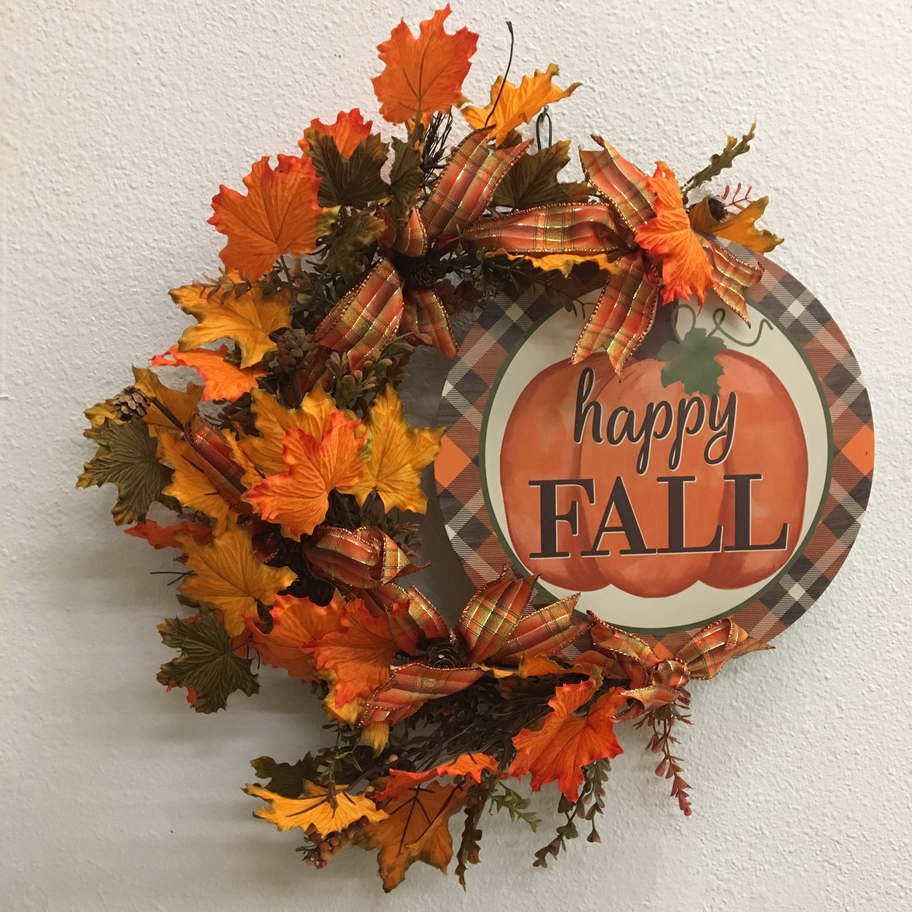 Fall Floral Off Center Sign Wreath
