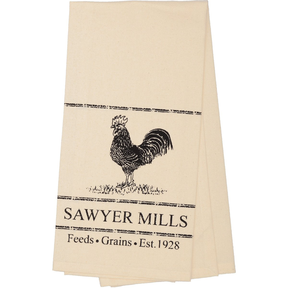 Sawyer Mill Charcoal Poultry Muslin Natural Tea Towel