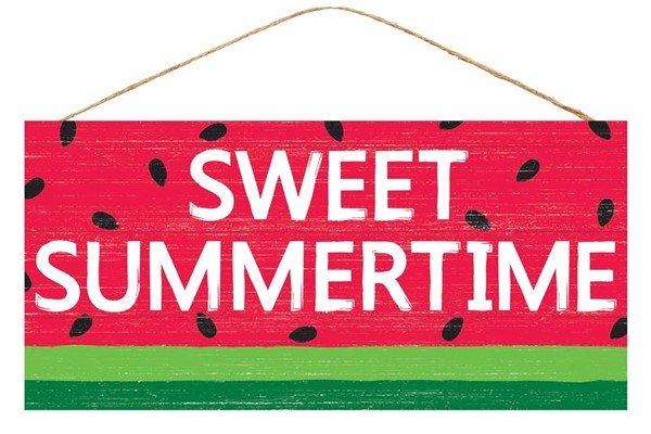 Sweet Summertime Watermelon Sign 12.5L X 6H  - copy