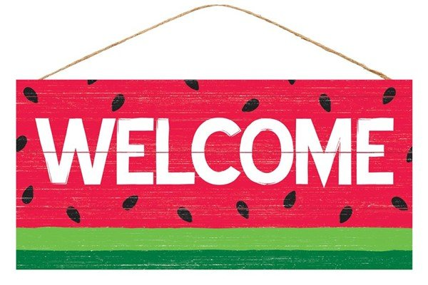 Watermelon Welcome Sign 12.5L X 6H