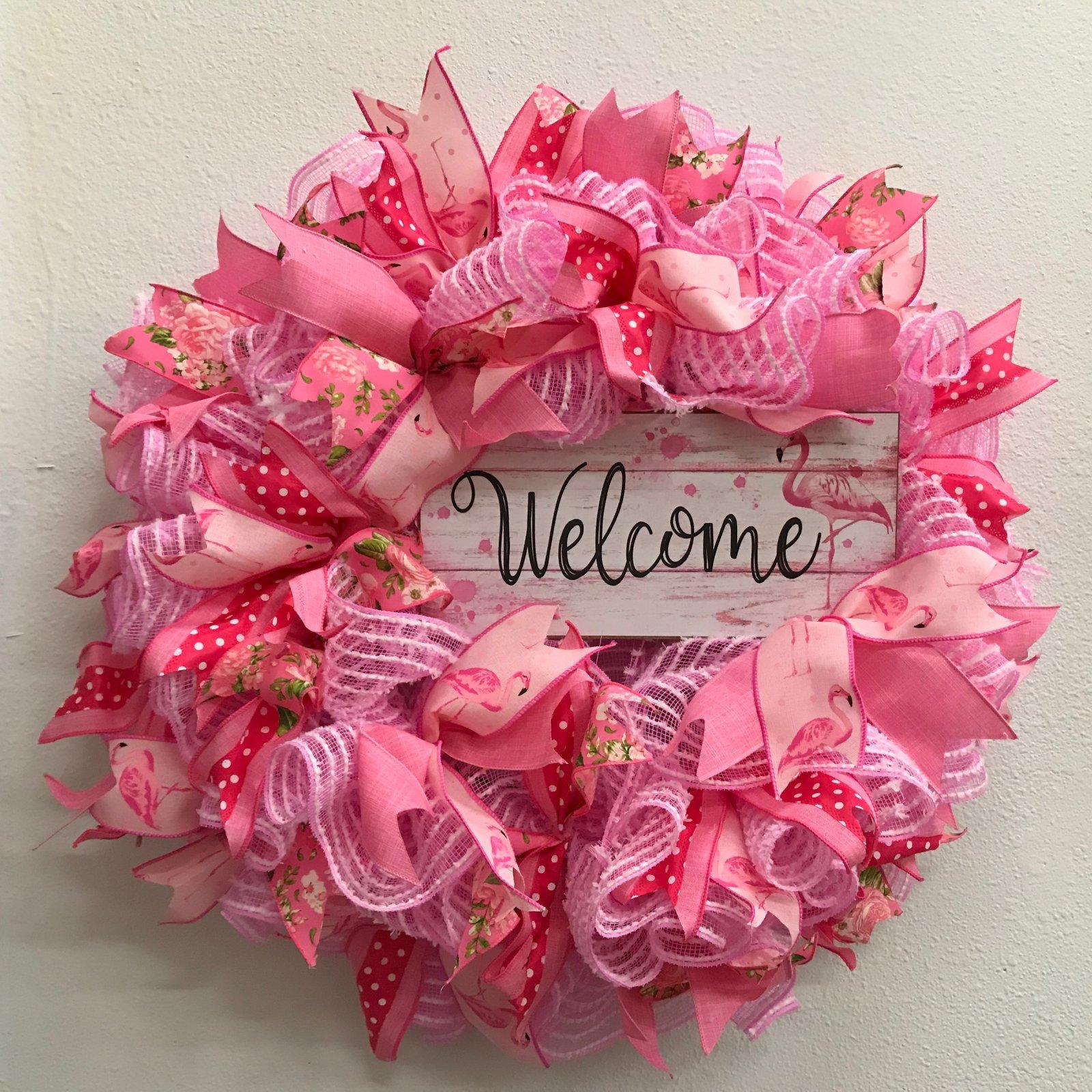Flamingo Wreath - 24