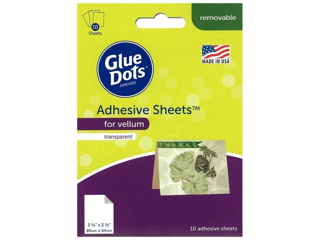 Glue Dots Adhesive Sheets for Velum