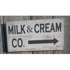Milk & Cream Co Sign