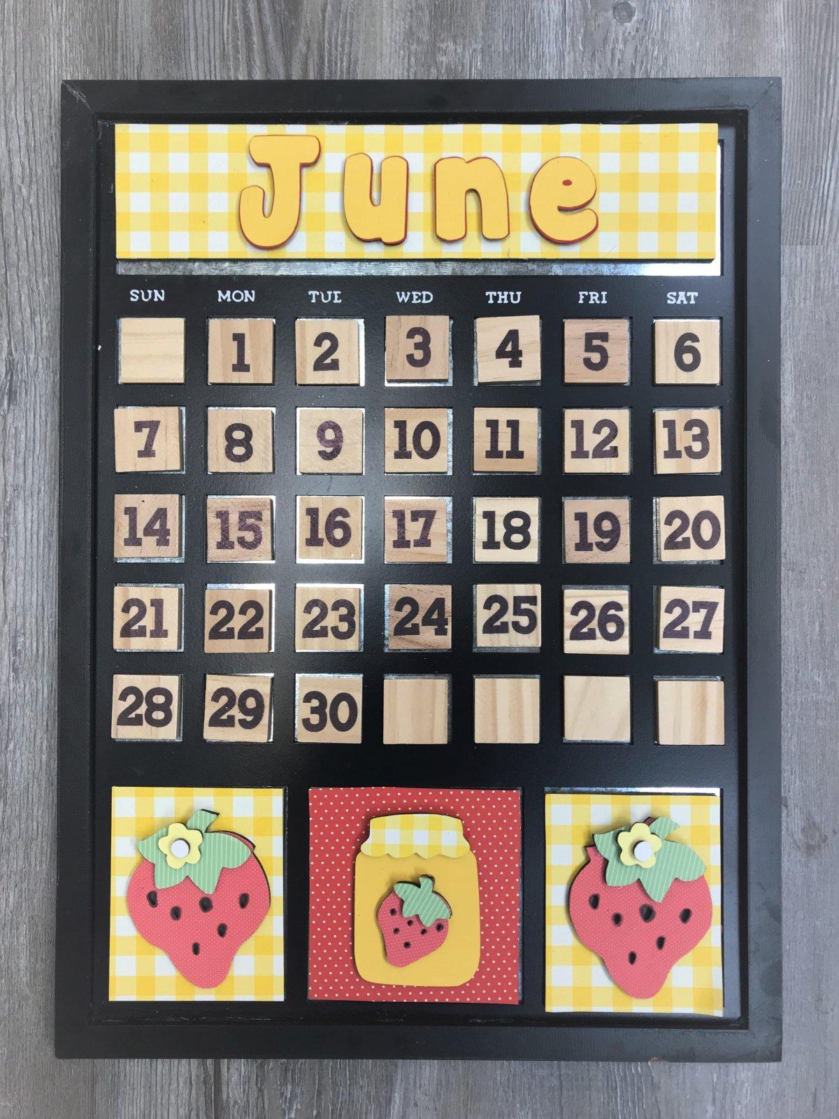 Magnetic Calendar Monthly Kit