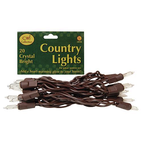 Light Set, Brown Cord, 20 ct