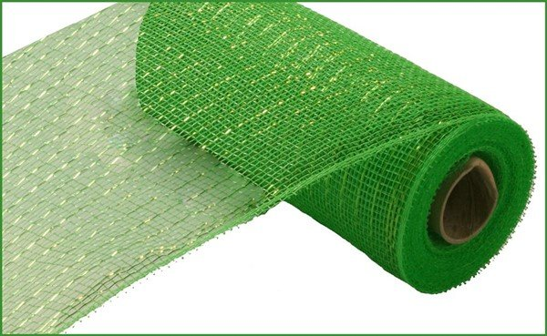 Metallic Value Mesh 10.5 Wide - Lime W/Lime Foil - copy
