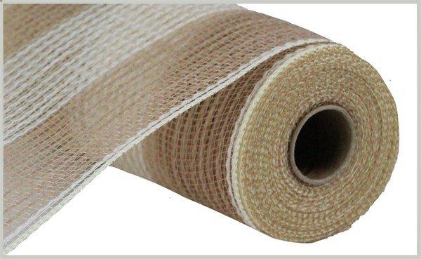 Wide Stripe Fabric Mesh 10.5 - Natural/Cream