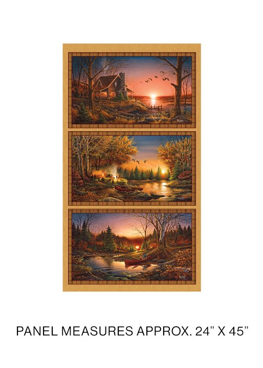 12328-99 Terry Redlin fabric panel, Autumn