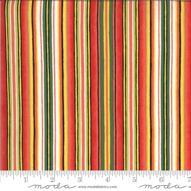 19972 13 Homegrown Salsa stripe fabric