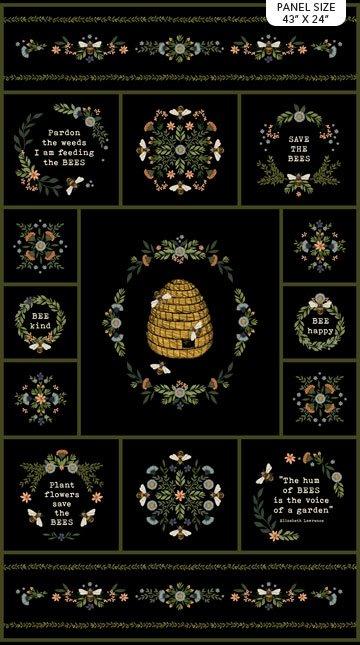 23783-99 Bee Kind panel