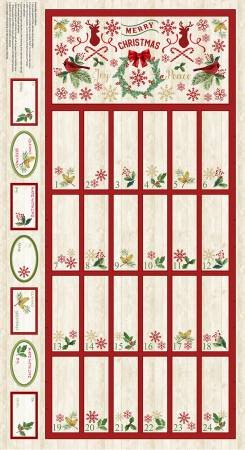 panel C8653-natural Advent Calendar Panel