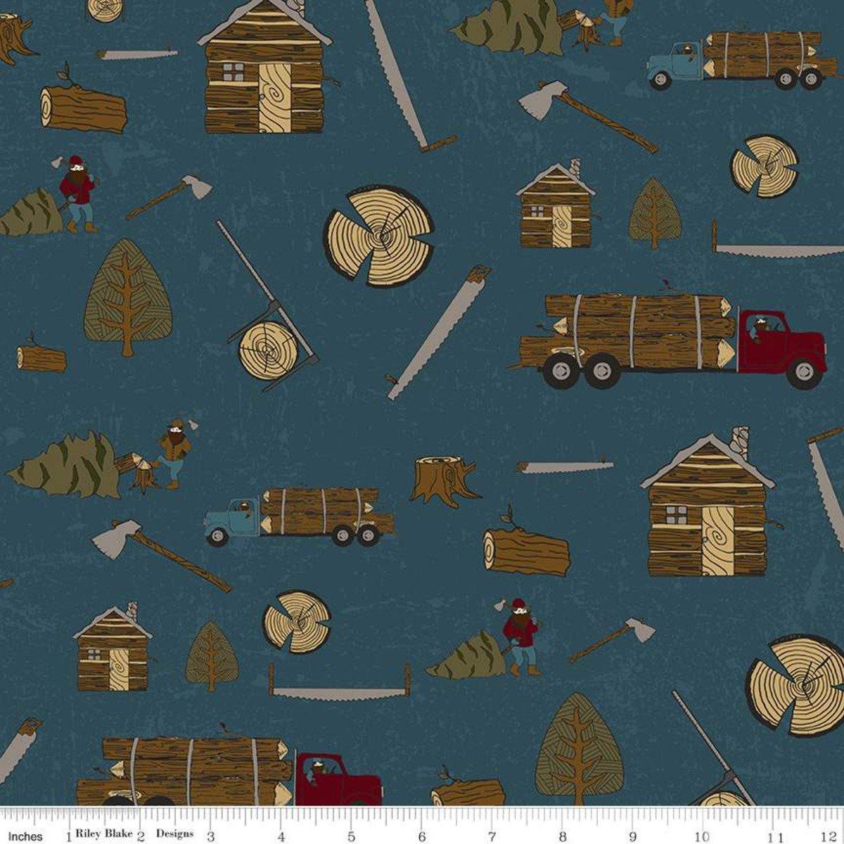 F7793-blue Lumberjack Flannel