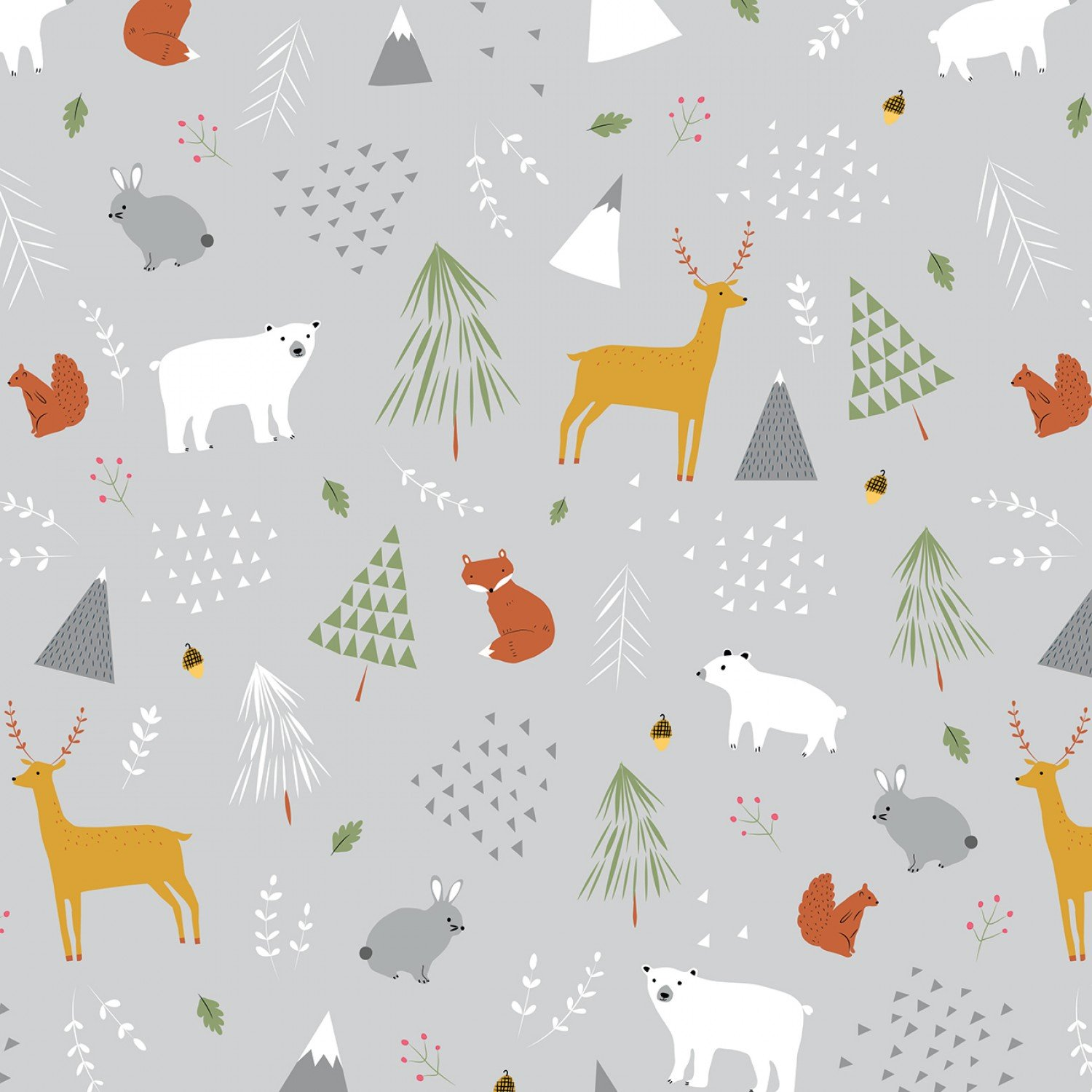 F9964-gray Flannel Forest