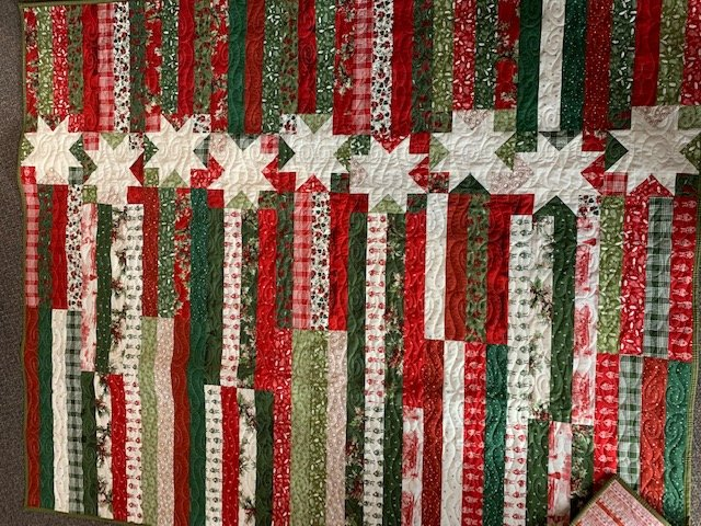 Christmas Stars & Stripes Quilt Kit