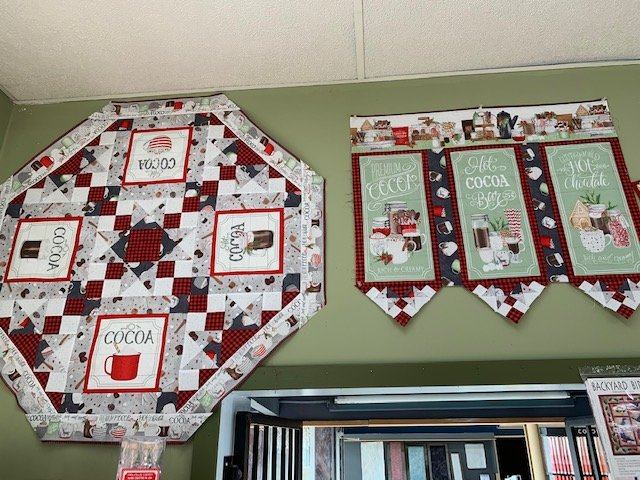 Hot Cocoa Bar quilt kit