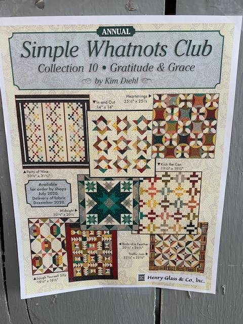 Simple Whatnots Club Collection 10 Quilt Kit