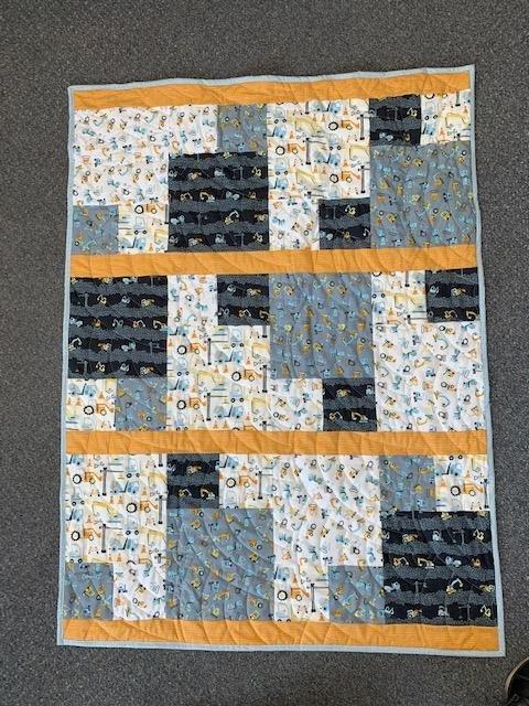 Scrappy Modern Construction Quilt Kit