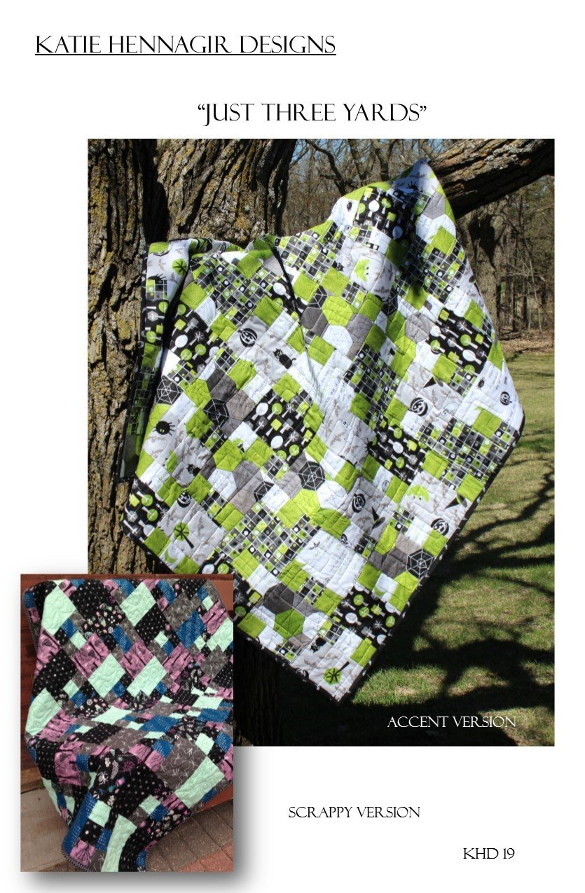 KHD Just Three Yards quilt pattern