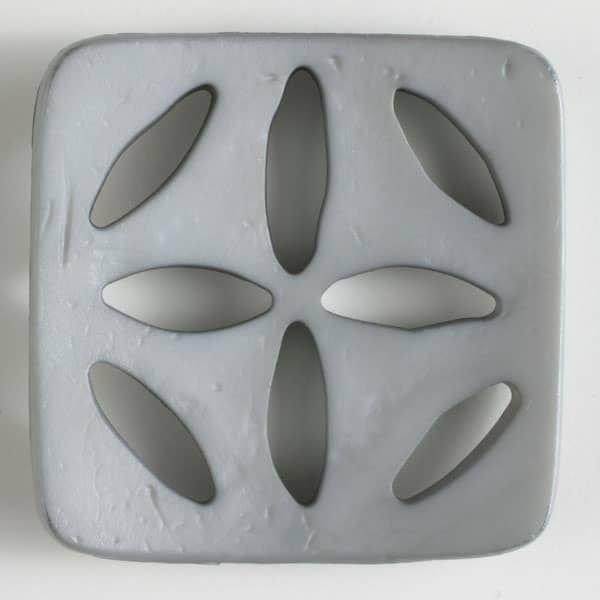 Square Fashion Plastic Button 60mm