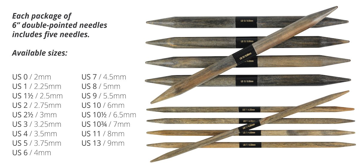 Lykke Driftwood 6 Double Pointed Needles