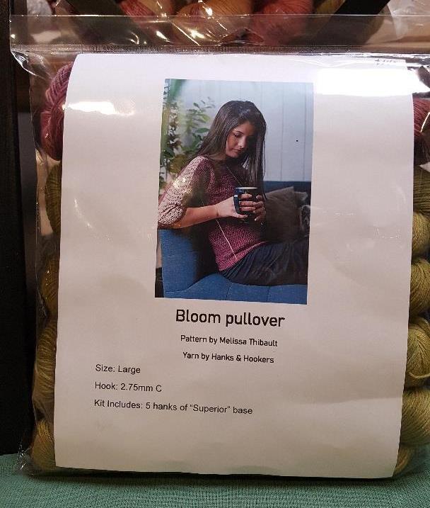 Hanks & Hookers Bloom Pullover Crochet Kit