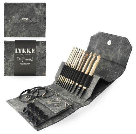 Lykke Driftwood 6 IC Crochet Hook Set - Grey Denim