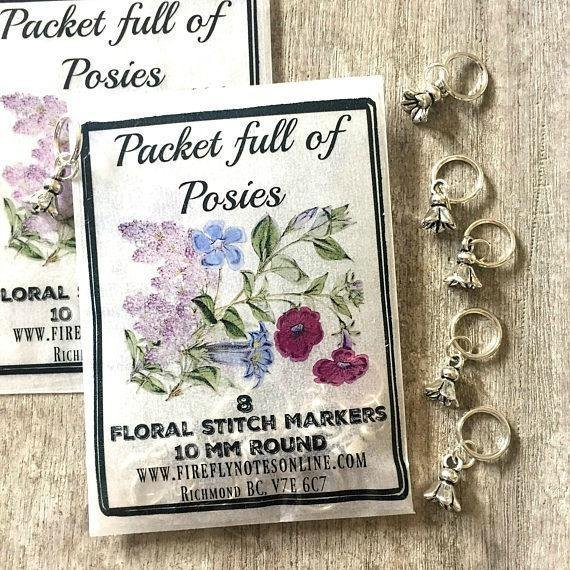 Firefly Notes Packet Full of Posies Stitch Marker Pack