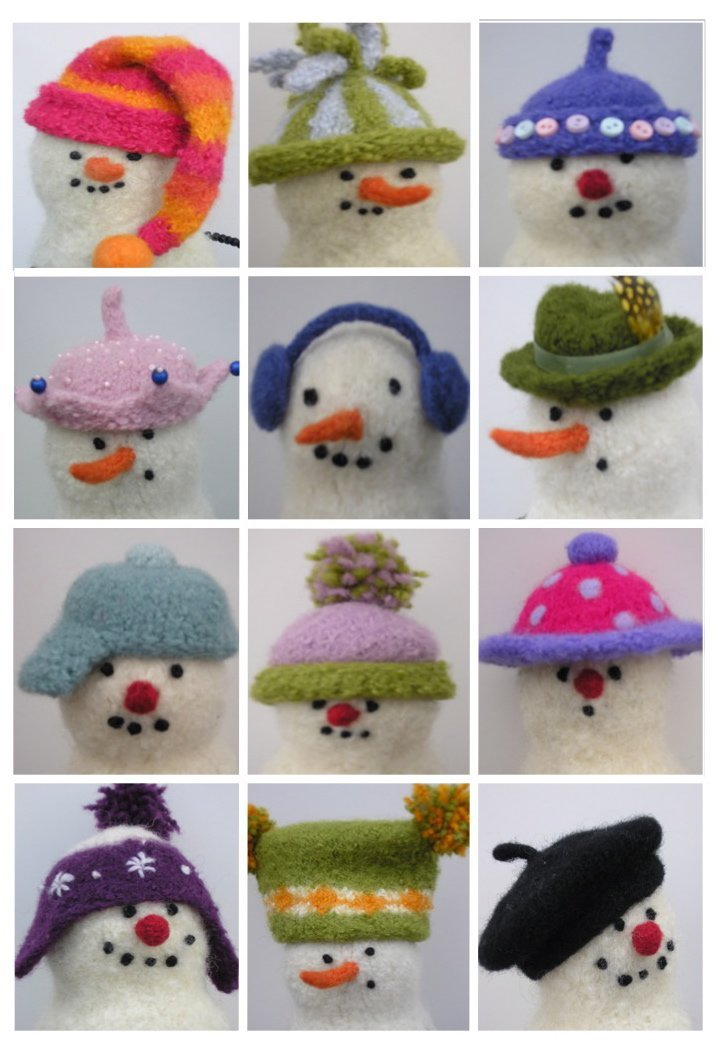 Woolly Snowman Hats Booklet