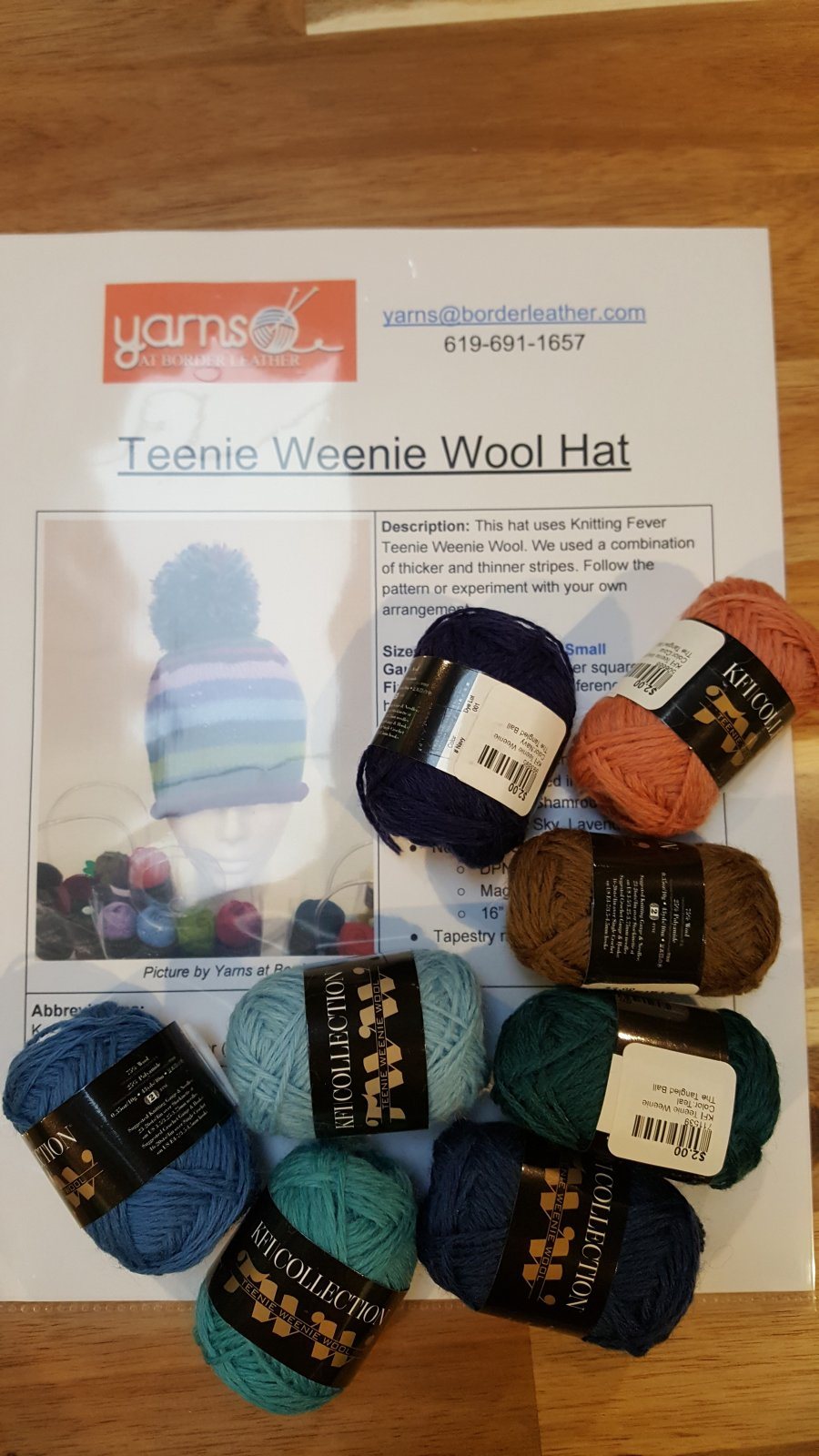 Teenie Weenie Wool Hat Kit