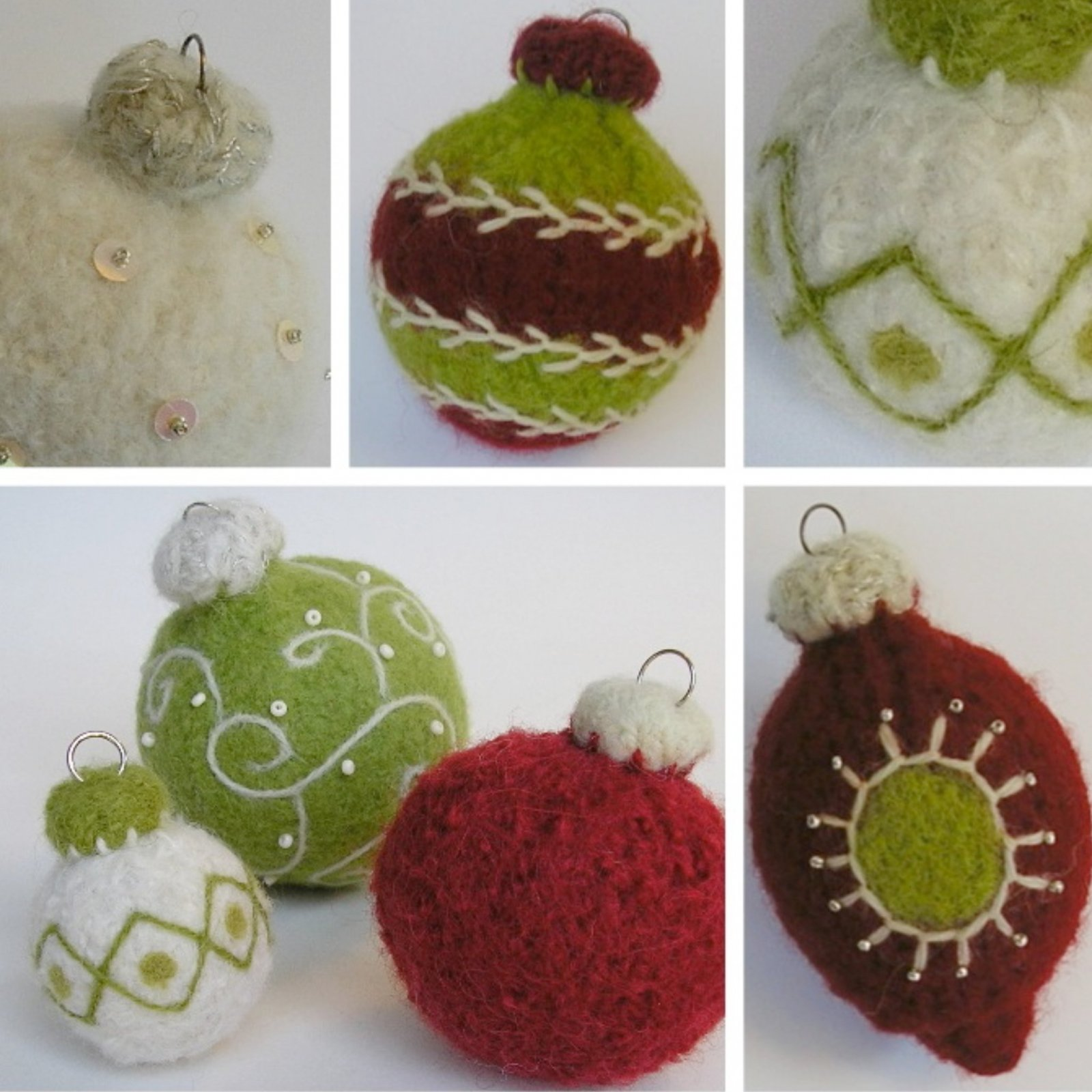 Woolly Holiday Ornaments Booklet