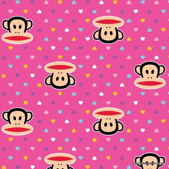 Paul Frank Julius Monkey Fabric by David Textiles