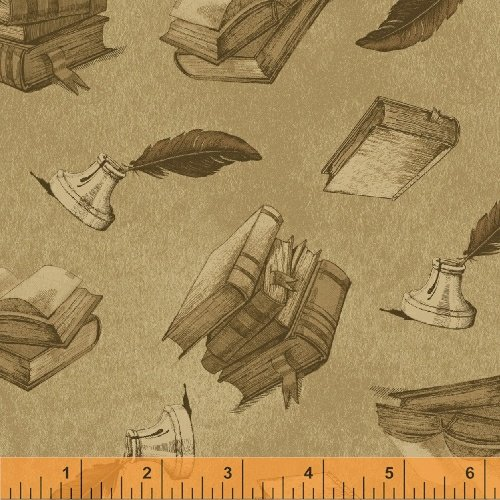 34240-1 Books and Letters designed by Whistler Studios for Windham Fabrics