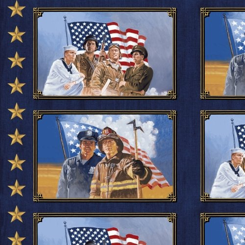 36040P-X American Heroes designed by Whistler Studios for Windham Fabrics