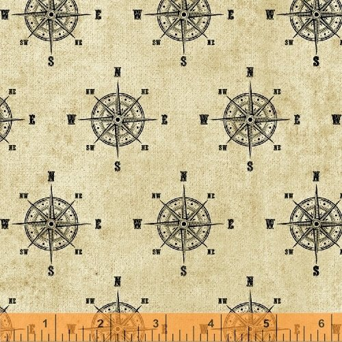 40028 2 world maps by windham fabrics