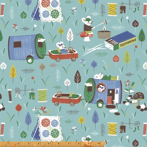 40261-1 Mouse Camp by Windham Fabrics NOT CONTINUOUS YARDAGE
