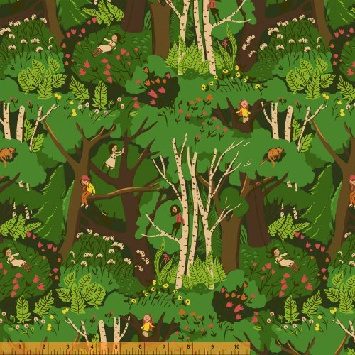 40927-2 Tiger Lily designed by Heather Ross for Windham Fabrics