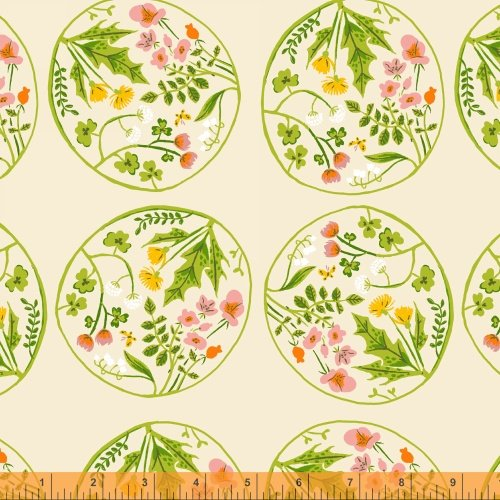 40928-5 Tiger Lily designed by Heather Ross for Windham Fabrics