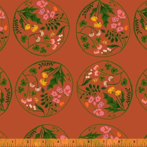 40928-6 Tiger Lily designed by Heather Ross for Windham Fabrics