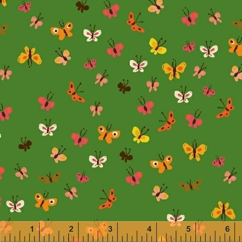 40933-2 Tiger Lily designed by Heather Ross for Windham Fabrics