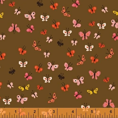 40933-3 Tiger Lily designed by Heather Ross for Windham Fabrics